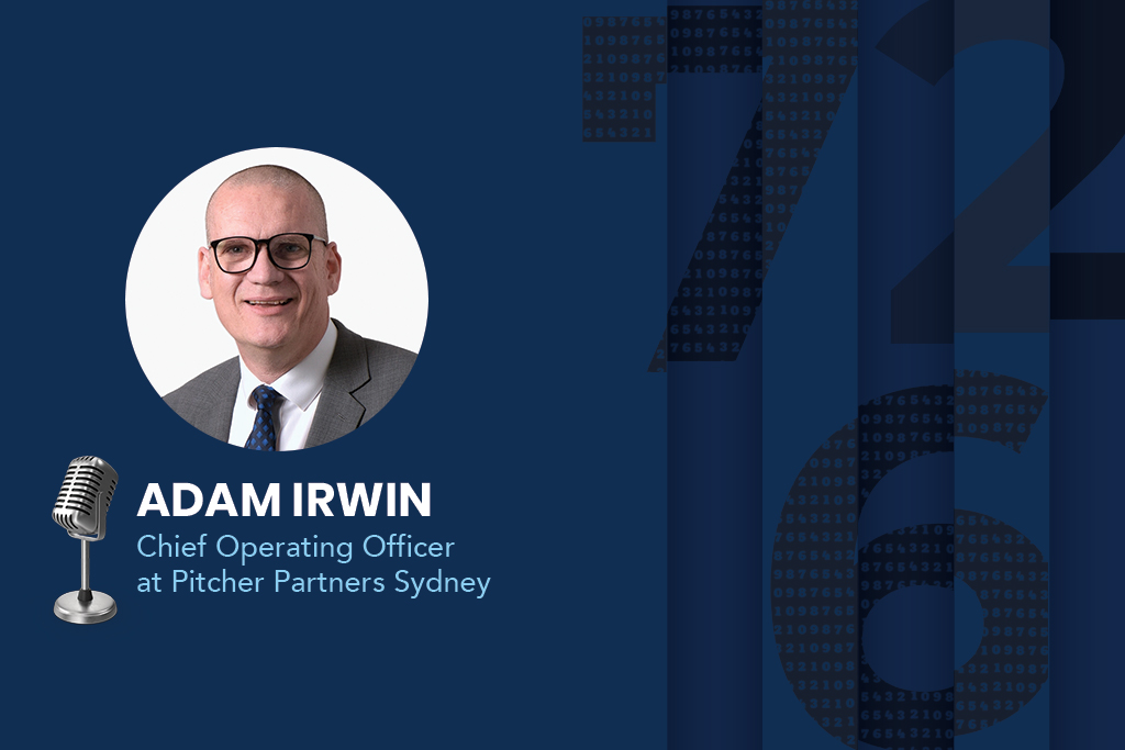 Adam Irwin, Chief Operating Officer and Partner of Pitcher Partners Sydney