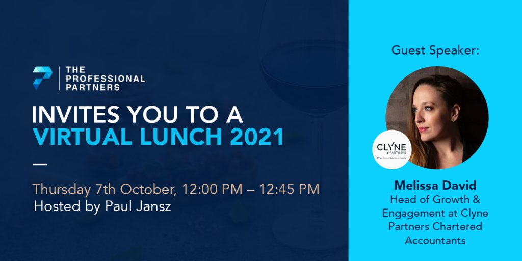 Virtual Lunch with Clyne Partners Head of Growth & Engagement, Melissa David