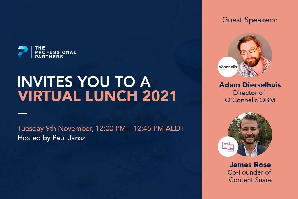 Virtual Lunch with Adam Dierhelhuis & James Rose